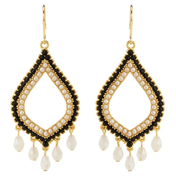 Gold Moroccan Drop Earrings SKU ER1035