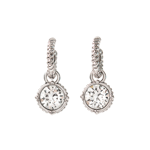 Silver Convertible Rope Drop Earrings with Swarovski Crystals SKU ER2110