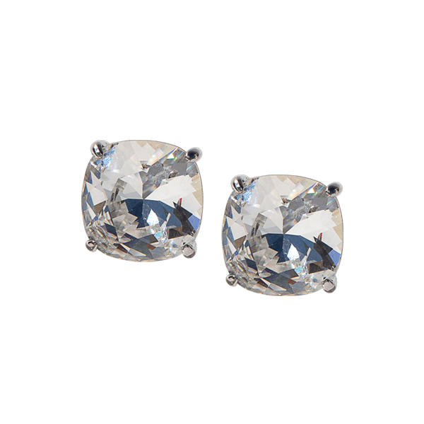 Silver Clara Stud Earrings with Swarovski Crystals SKU ER3014
