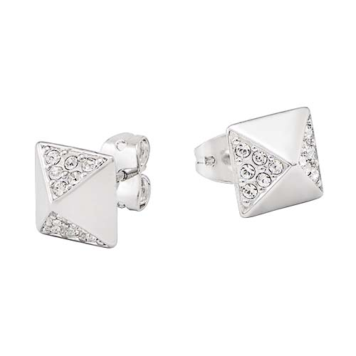 ER3035 Silver Studded Stud Earrings with Swarovski Crystals V1