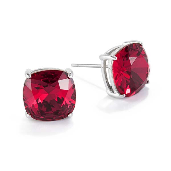 ER3038 The Clara Stud Earrings With Crystal Scarlet Crystal by Swarovski copy