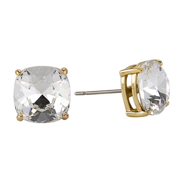 ER3040 Gold Clara Stud Earring with Swarovski Crystals