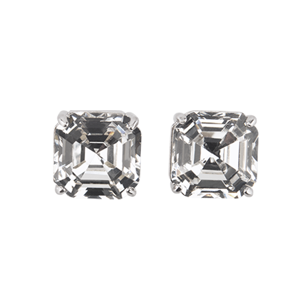 Silver Imperial Stud Earrings with Swarovski Crystals SKU ER3059