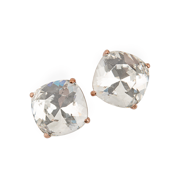 Rose Gold Clara Stud Earrings with Swarovski Crystals SKU ER3061