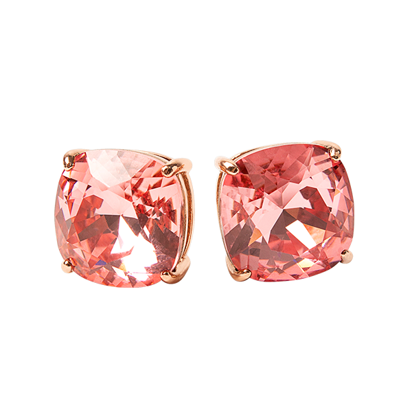 Rose Gold Clara Stud Earrings with Rose Peach Swarovski Crystals SKU ER3079
