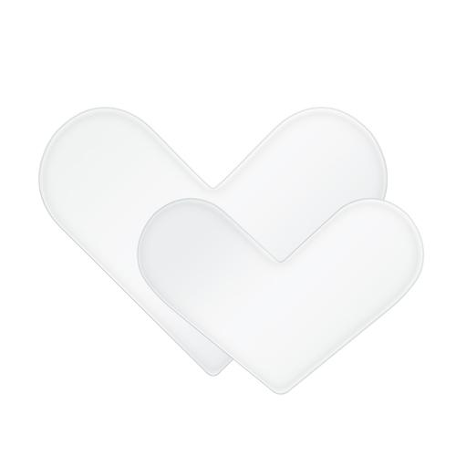 HC3001 Silver Love Heart Plate