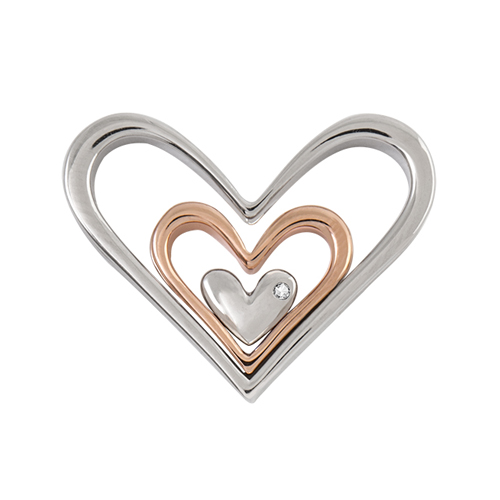 HP4001 Nesting Hearts with Swarovski Crystal Accent Window Frame V3