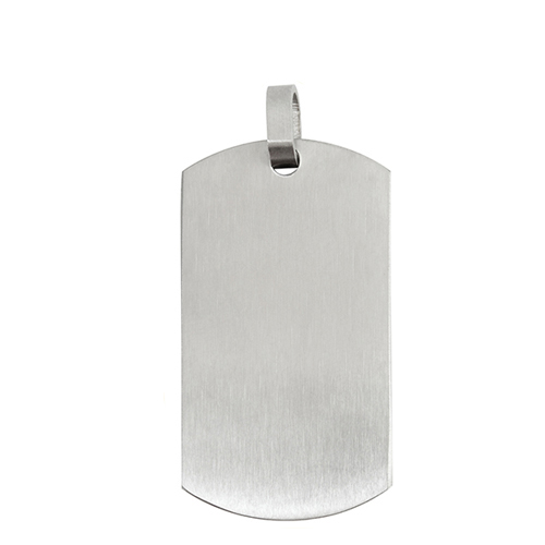 Inscriptions Brushed Silver Tag SKU IN1006