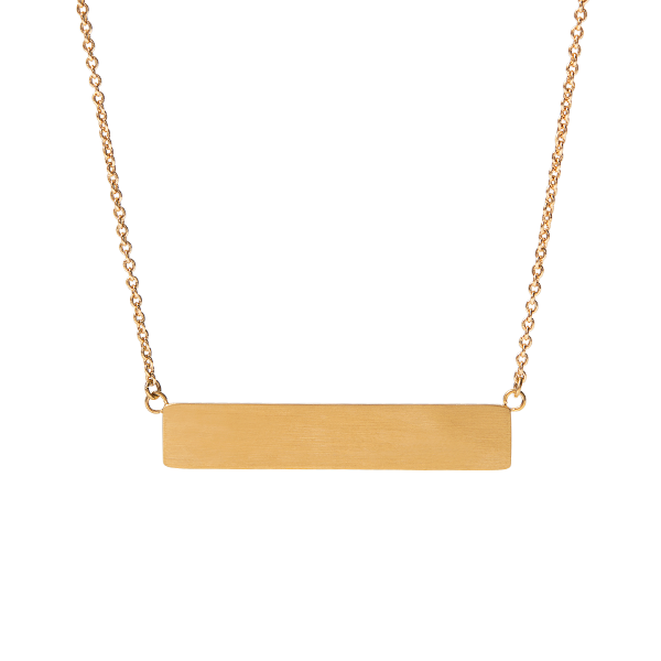 Inscriptions Gold Horizontal Bar Necklace 16 19 SKU IN1014