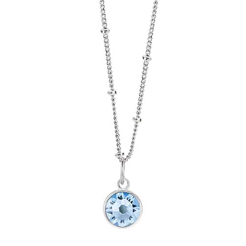 LB1044 March Swarovski Birthstone Silver CORE Gift Set