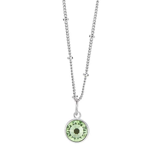 LB1049 August Swarovski Birthstone Silver CORE Gift Set
