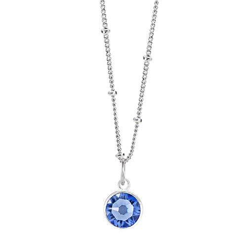 LB1050 September Swarovski Birthstone Silver CORE Gift Set