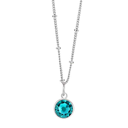 LB1053 December Swarovski Birthstone Silver CORE Gift Set