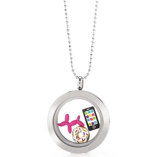 LB1071   Favorite Things Silver Medium  Living Locket Gift Set copy