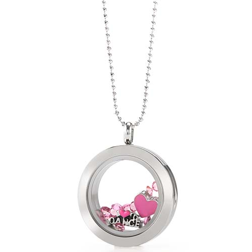 LB1074   I Love to Dance Silver Medium  Living Locket Gift Set copy