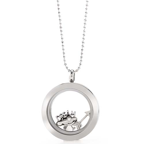 LB1075   Dream BIG Silver Medium Living Locket Gift Set copy