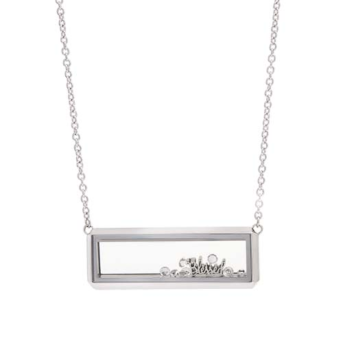 LB1099   I am Blessed Silver Bar Living Locket Gift Set