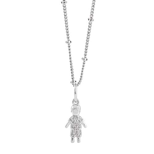 LB1100   Boy with CZ Silver CORE Gift Set