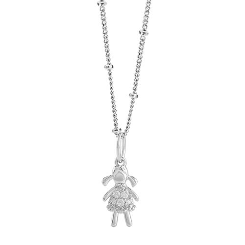LB1101   Girl with CZ Silver CORE Gift Set