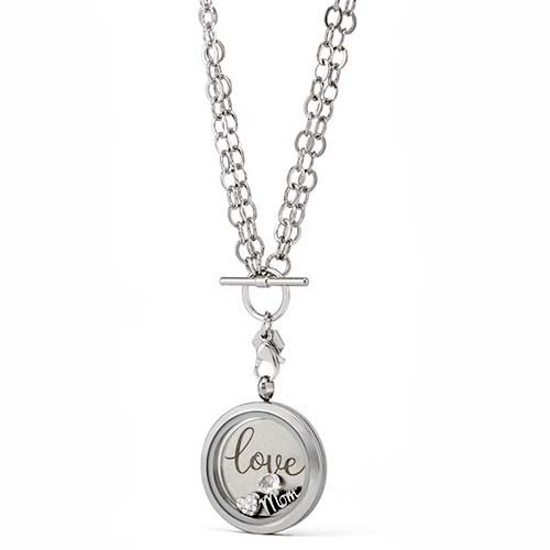 Gifting CEM I Love You Silver Love Inscription Locket V1