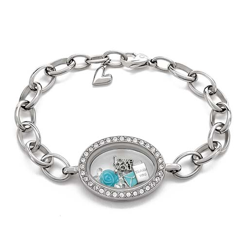 Gifting CEM Thanks Mom LB1865 Silver Locket Bracelet V1