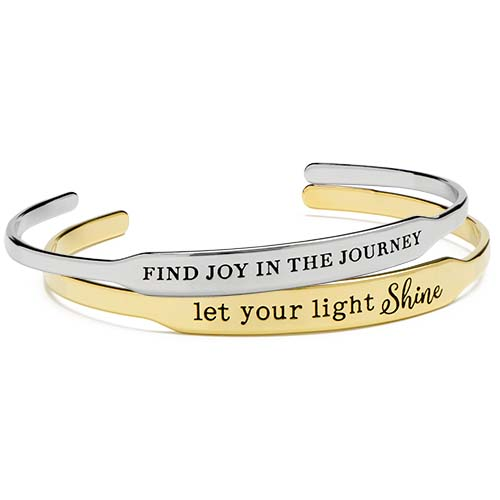 BR6003 BR6004 Gold Let Your Light Shine Happygram Bangle