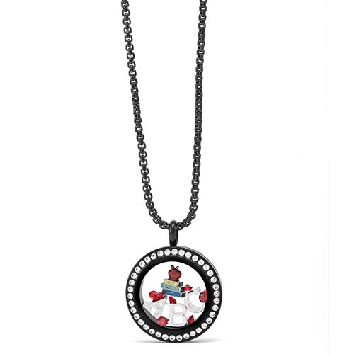Gifting CEM Looks Teacher Appreciation Black ABC Locket V1