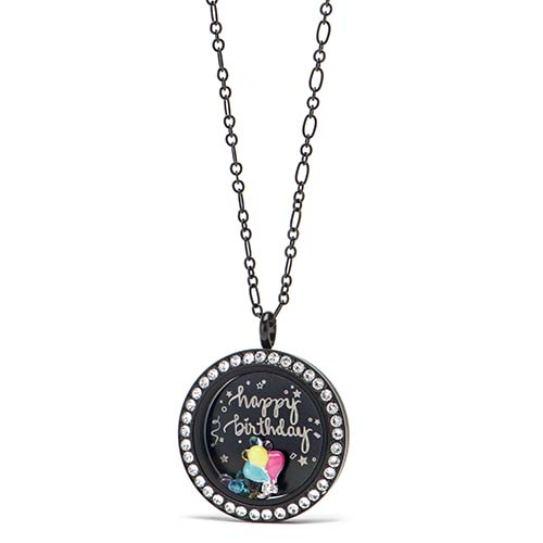 Gifting CEM Looks Happy Birthday Large Black Locket V1