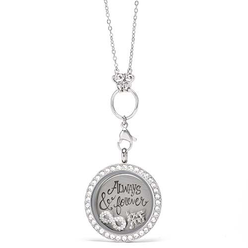 Gifting CEM Looks Anniversary Large Silver Swarovski Locket V1 copy