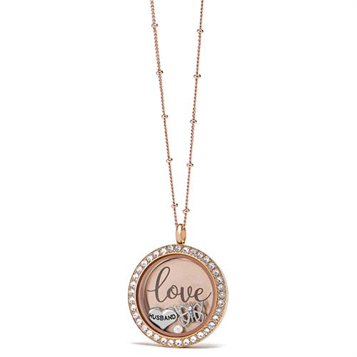 Gifting CEM Looks Anniversary Large Rose Gold Locket V1