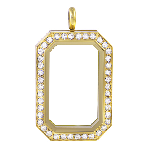 LK1023 Gold Heritage Living Locket with Crystals by Swarovski