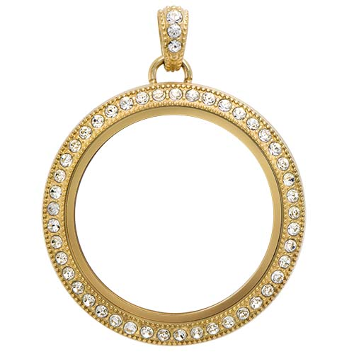 LK1030 Large Gold Legacy Living Locket with Swarovski Crystals copy
