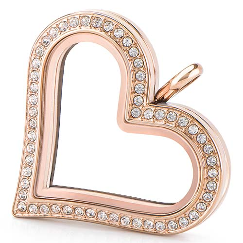 LK1033 Rose Gold Heart Locket V1 copy