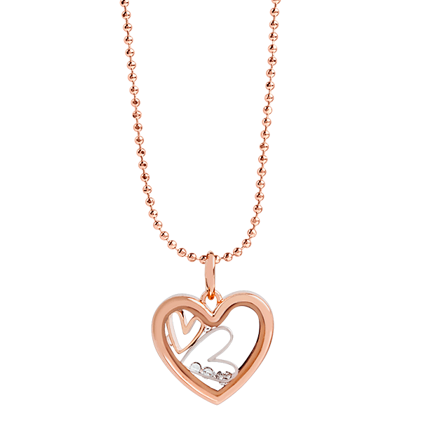 Rose Gold Heart Capsule Locket