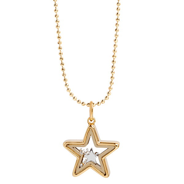 Gold Star Capsule Locket