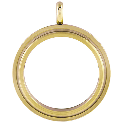 LK4003 Large Gold Twist Living Locket Base