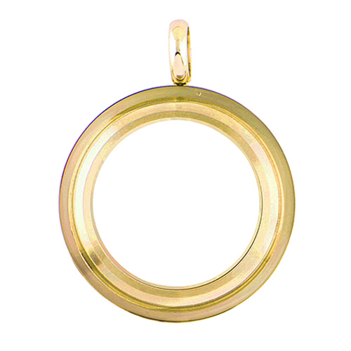 LK4007 Medium Gold Twist Living Locket Base