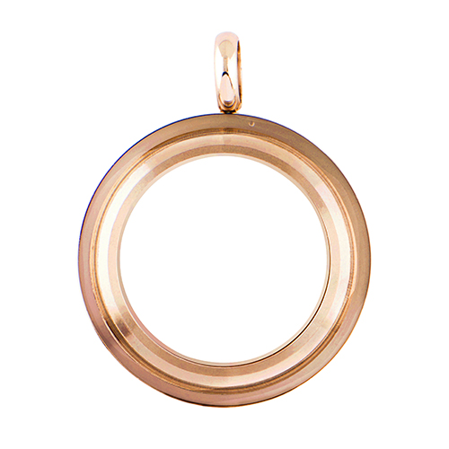 LK4008 Medium Rose Gold Twist Living Locket Base