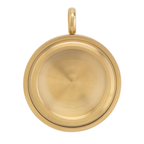 LK4012 Medium Gold Solid Twist Living Locket Base copy