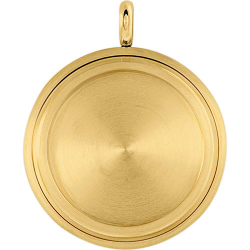 LK4015 Large Gold Solid Twist Living Locket Base