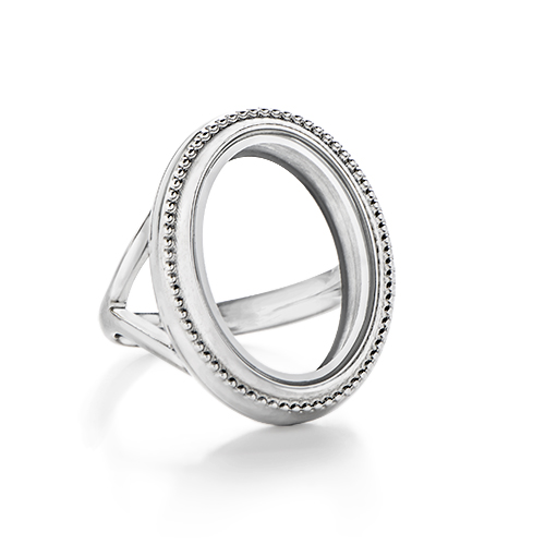 LK7006 Silver Heirloom Living Locket Ring ANGLE1