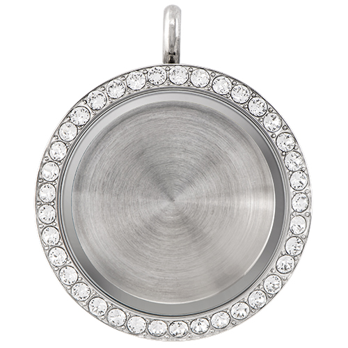 LK9005 Large Silver Solid Twist Living Locket ver1