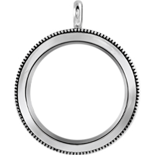 LK9007 Large Silver Twist Living Locket Base   Heirloom Face