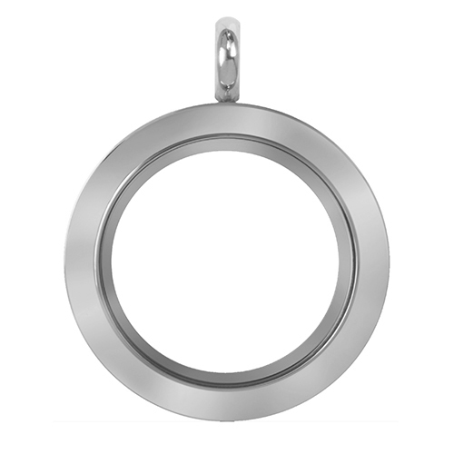 LK9014 Medium Silver Twist Living Locket Base   Face V2