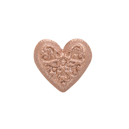 MD1005 Medium Rose Gold Moodology Heart Mood Disc Charm
