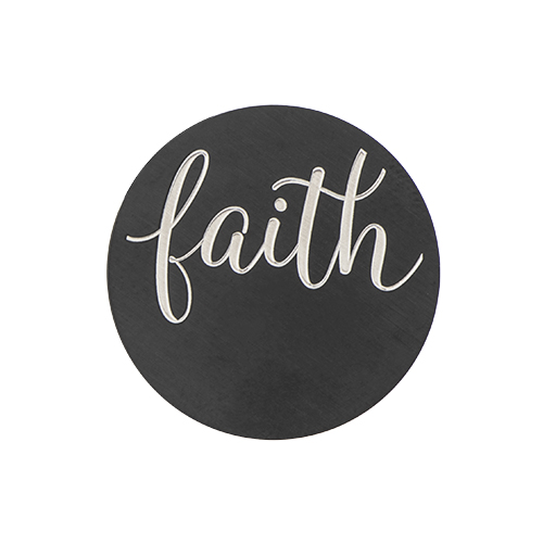 PB9310 Large Black  Faith  Plate