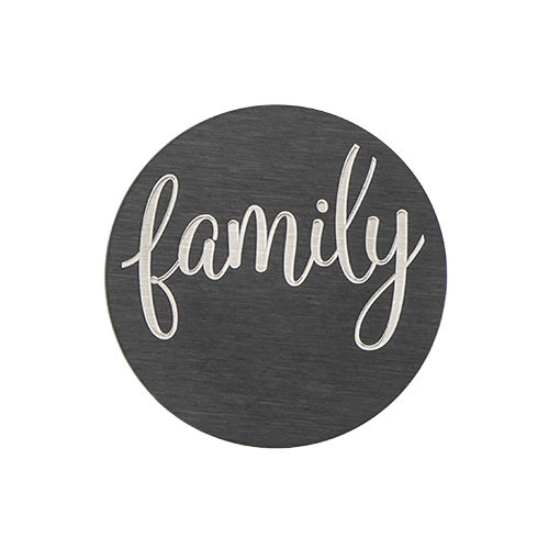 PB9311 Large Black  Family  Plate