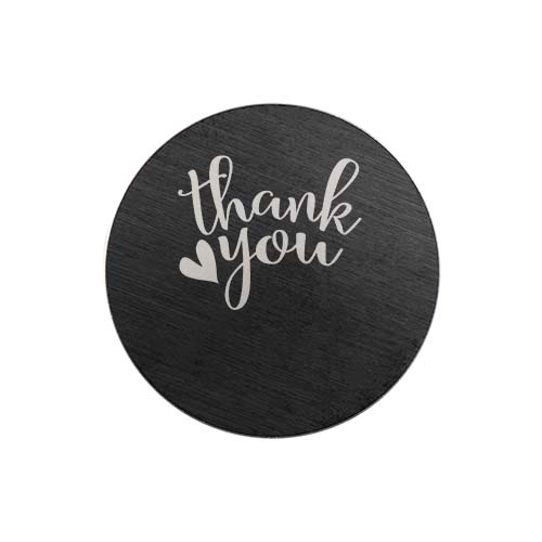 PB9313 Large Black Thank You Plate copy