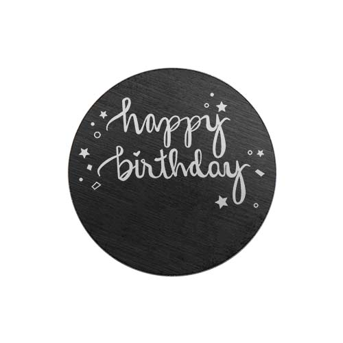 PB9314 Large Black Happy Birthday Plate copy