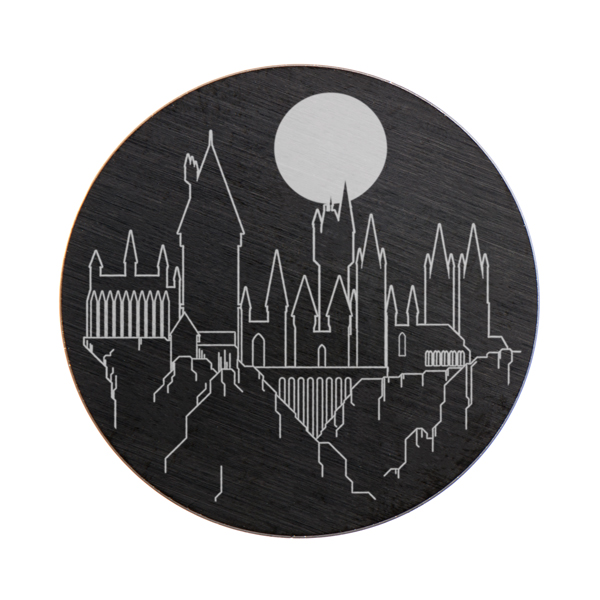 Harry Potter Large Black Hogwarts Castle Plate SKU PB9318